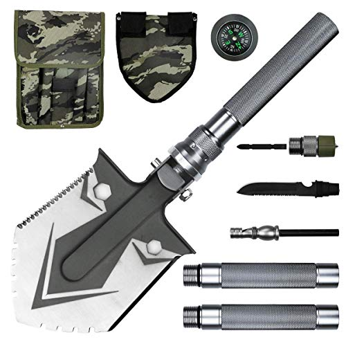BACOENG Compact Folding Shovel [31 inch Length] with MOLLE Pouch - Tactical Multitool Spade Kit for Camping, Hiking, Backpacking, Fishing, Trench Entrenching Tool etc by BACOENG (Image #6)