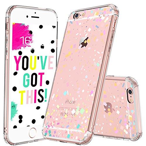 big sale 59a1a 07953 MOSNOVO iPhone 6S Case/iPhone 6 Case, Colorful Confetti Pattern Clear  Design Printed Transparent Plastic Hard Case with Soft TPU Gel Bumper  Protective ...
