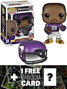 Adrian Peterson - Vikings: Funko POP! x NFL Vinyl Figure + 1 FREE Official NFL Trading Card Bundle [45470]