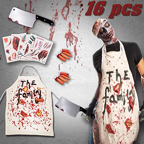 Butcher Halloween Costume (Pawliss Halloween Decorations, Zombie Butcher Apron Costumes Props, Hounted House)