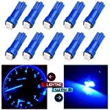 99 yukon dash board - CCIYU 10 x T5 Ultra Blue 58 70 73 74 Dashboard Gauge 2SMD LED Wedge Lamp Bulb Light