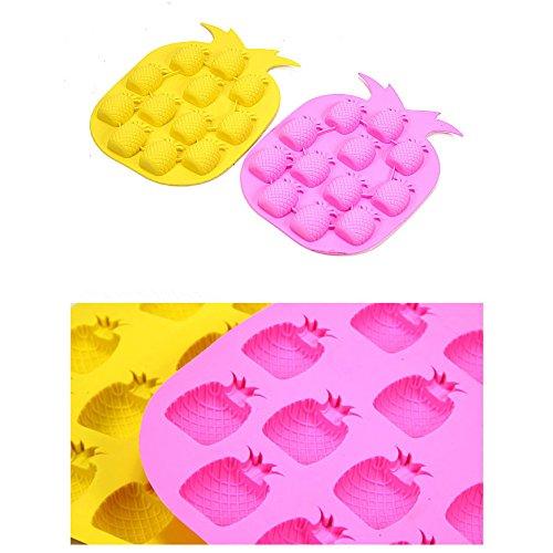(Pineapple Shape Novelty Ice Cream Maker Mold Tray Cube Drink DIY Party Bar Home)