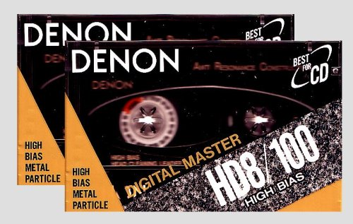 2- Pack DENON HD8/100 High Bias Metal Particle Audio Cassette Tapes
