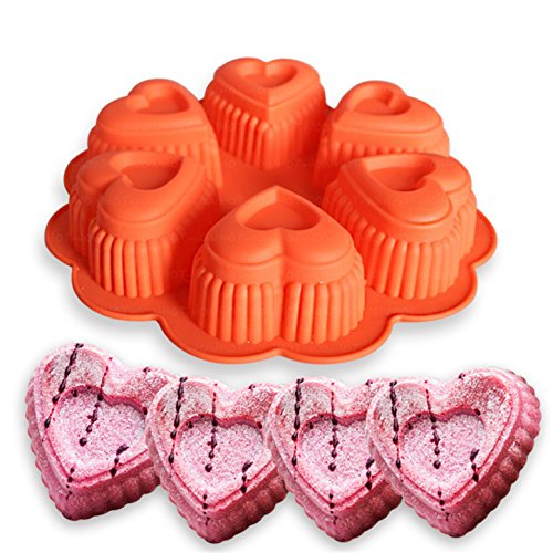 FantasyDay Heart Cake Mold Silicone Baking Molds Party Cake Bakeware for Your Birthday Dessert, Cake, Bread, Tart, Pie, Flan, Pudding, Maracoon and More #8