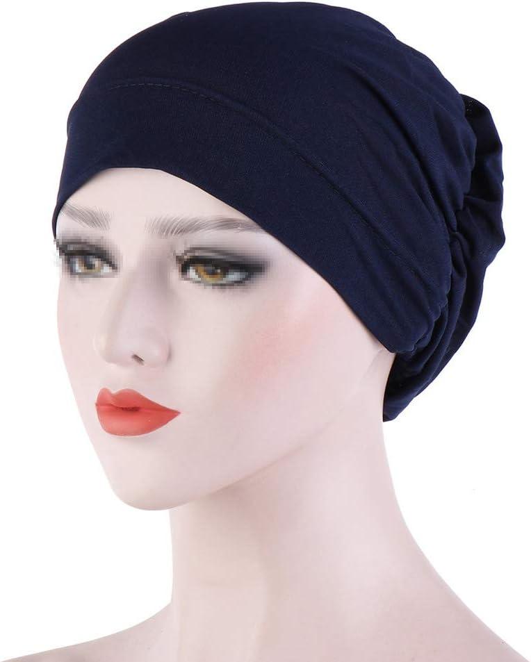 Damen Chemo Turban H/üte Kopfbedeckung Kappe Make up Wrap Hat f/ür Chemotherapie Krebs Haarausfall Rann.Bao Muslim M/ütze Kopftuch