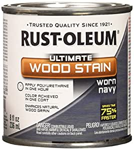 Rust-Oleum Ultimate Wood Stain, 8 oz, Worn Navy
