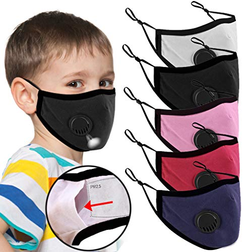 ObestChoose for Children Mouth Madk Unisex Cotton Face Anime Protection for Cycling Camp Reusable Cartoon Dustproof Unisex Adjustable for Outdoor Activities