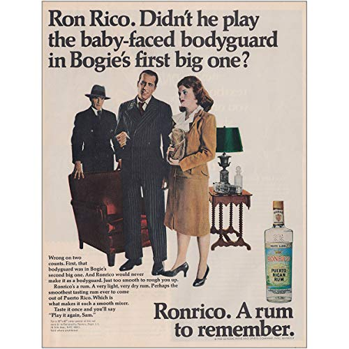 (1968 Ronrico Rum: Bodyguard in Bogies First Big One, Ronrico Rums Print Ad)