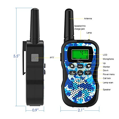 Huaker Kids Walkie Talkies,3 Pack 22 Channels 2 Way Radio Toy with Flashlight and LCD Screen ,3 Miles Range Walkie Talkies for Kids Outside Adventures, Camping, Hiking by Huaker (Image #2)