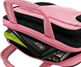 rooCASE 10-Inch and 11.6-Inch Netbook / iPad Carrying Case -Deluxe Bag - Pink / Black