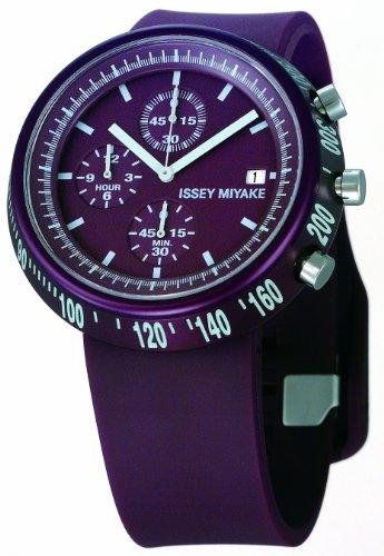 Issey Miyake Unisex Trapeziod Purple Watch IM-SILAT006