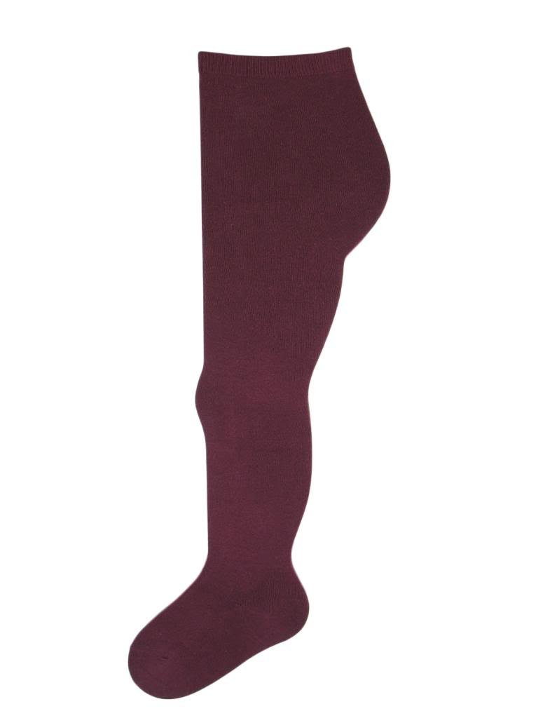 Soxsmith 4 Pairs Big Girls' Supersoft Cotton-Rich Tights 9-10 Years Burgundy