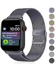 Funbiz Compatibel met Apple Watch Metaal Bandje 38mm 40mm 42mm 44mm, Flexibel Ademend Roestvrij Staal Mesh Armband Smartwatch Vervangende Band per Series 5 4 3 2 1