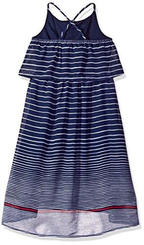 Hem Nautica Navy Chiffon Stripe Hi Dress Girls' Low With zz406Anr