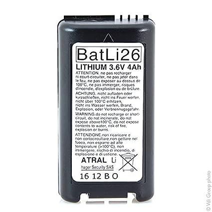 Daitem - Batería sistema de alarma DAITEM BATLI26 3.6V 4Ah ...