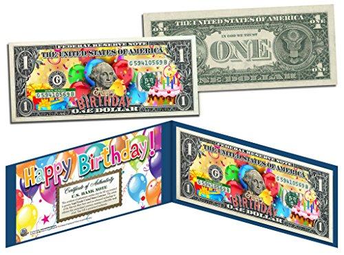 ake Gift Colorized $1 Bill U.S. Genuine Legal Tender w/Folio by Merrick Mint (Genuine 1 Gift)
