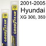 Hyundai XG 300, 350 (2001-2005) Wiper Blade Kit - Set Includes 22
