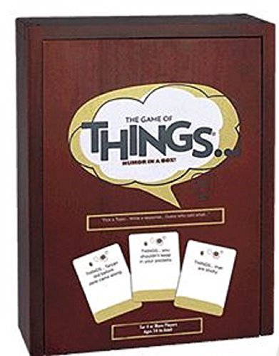 The Game of Things Humor in a Box Exclusive Edition with Cherry Wood Storage - Things Game The Of