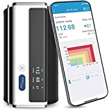 Wellue Smart Blood Pressure Monitor - Wireless Uppr Arm Cuff Bluetooth BP Machine with Onepiece Design , Stores 50 Readings a