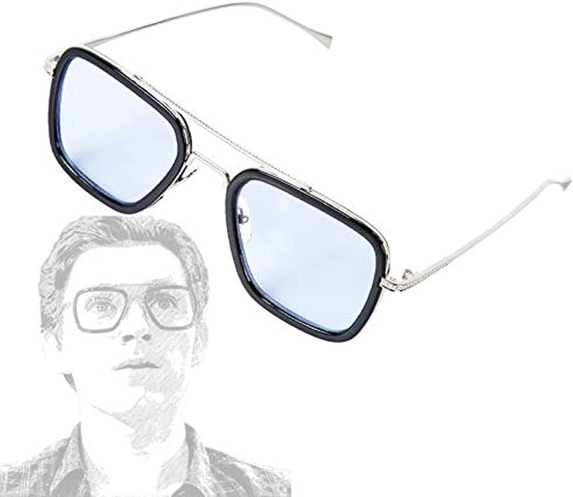 Eyewear,Tony Stark Sunglasses Square Metal Frame Men Women