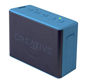 Creative MUVO 2c Palm-sized Mini Water-resistant Bluetooth Speaker with Built-in MP3 Player (Blue)