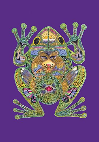 Toland Home Garden 119609 Animal Spirits-Frog 12.5 x 18 Inch Decorative, Garden Flag-12.5
