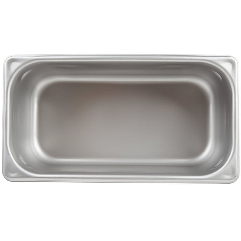 Stainless Steel Steam Table Pan 1/3 Size,ATOSA A2134 Stainless Steel Steam Table Pan 4'' Deep and Anti-Jam Hotel Pan Buffet Food Pans Food Pan