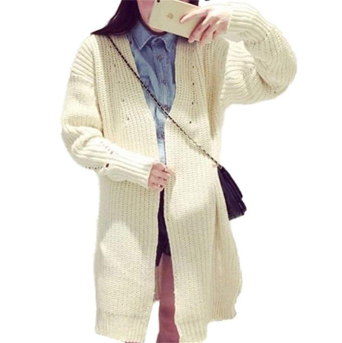 Mujer Outerwear Primavera Otoño Largos Abrigo Tejido Elegante Moda Vintage Festivo Cardigan Clásico Colores Sólidos Manga Larga Moda Joven Abrigos Chaqueta ...