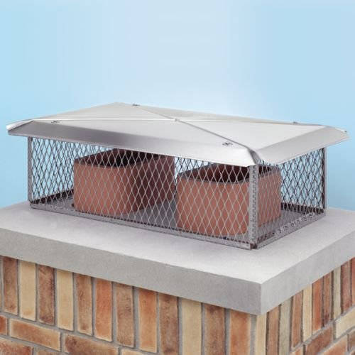 Gelco 11746 17'' x 29'' 304 Stainless Steel Multi-Flue Chimney Protector Cap with, Stainless Steel