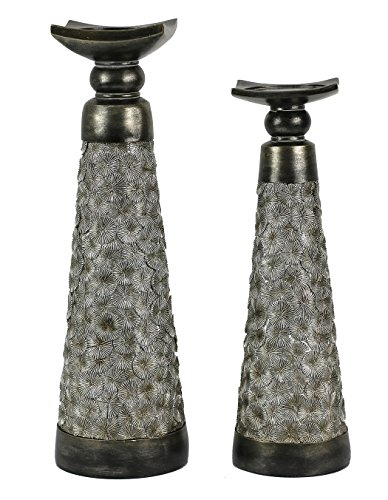 Home N Kitchenware Designs Adelphi Design Two Piece Hurricane Candlestick Set