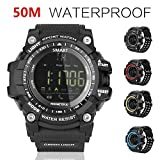 Sports Watch Smart Watch Bluetooth Watch with Android and IOS Smartphone Outdoor Waterproof IP67 (Black)