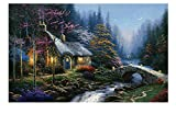 Cabin under the moon 500 Pieces Wood Jigsaw Puzzle, Perfect Choice for the Puzzle Lover