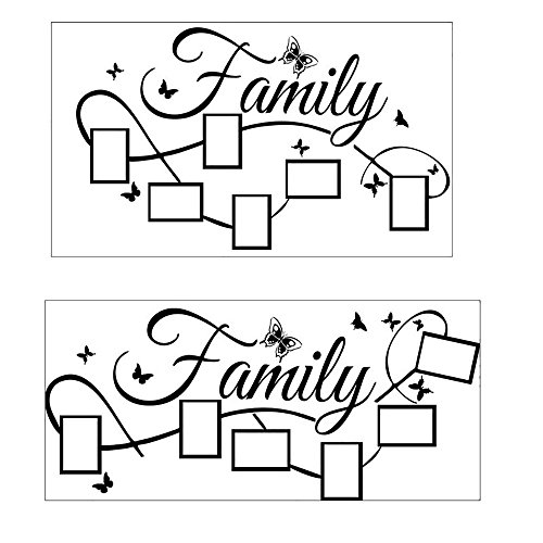 ❤️ Yu2d ❤️ Family Photo Frame Wall Sticker Mural Artist Home Decoration -