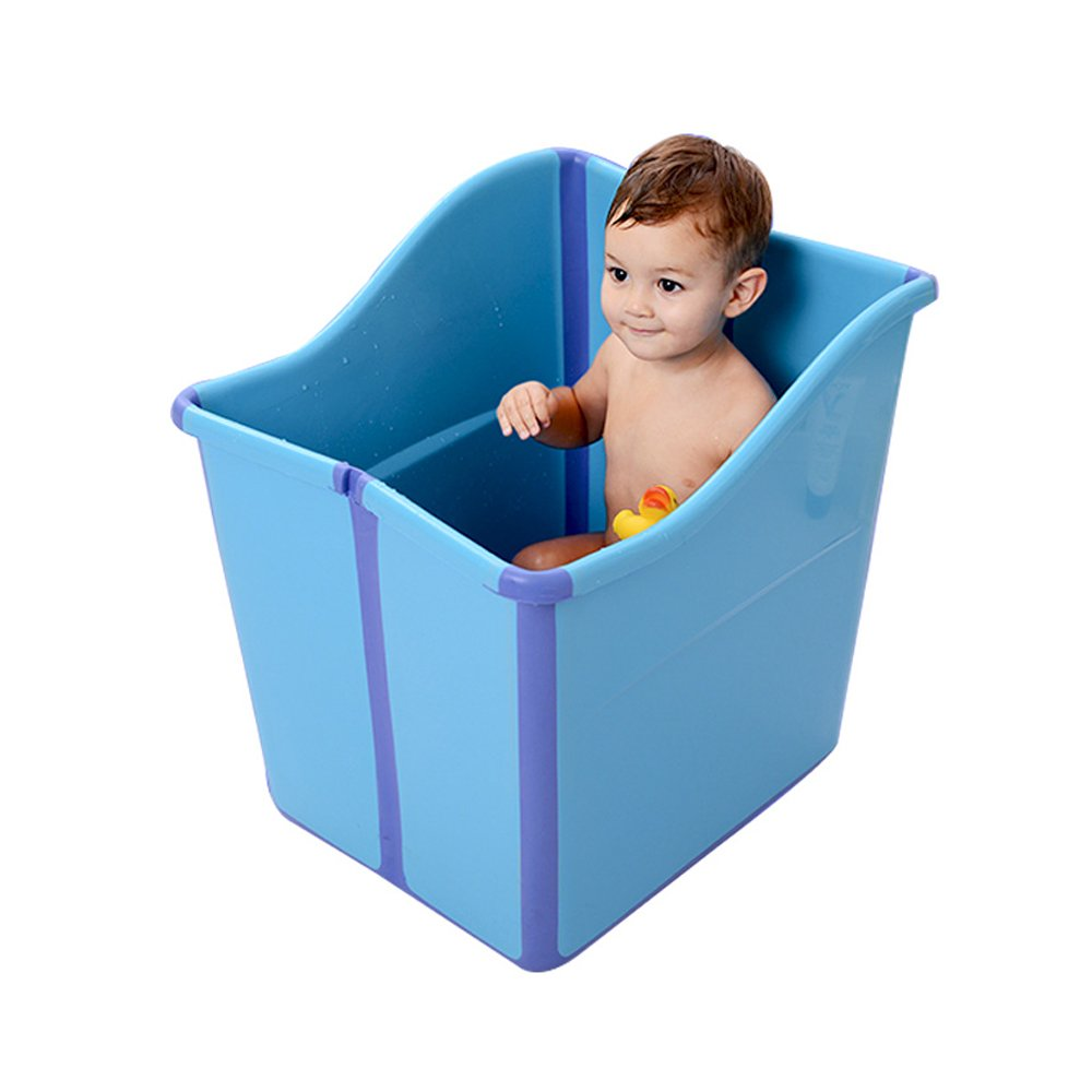 Amazon.com : Large Foldable Toddlers Bath Tub for Baby Enable Water ...