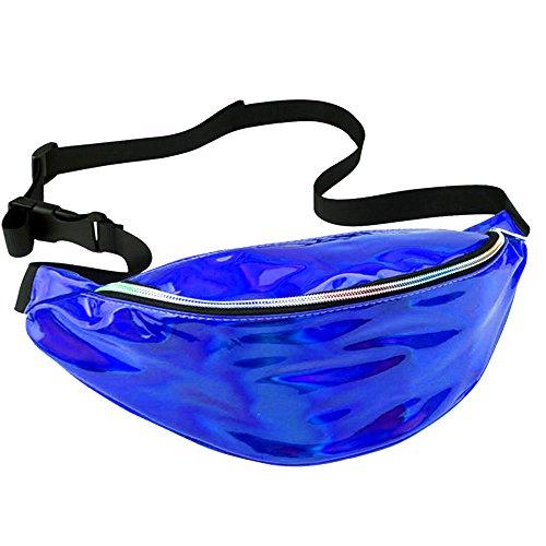 Fanny Packs For Women,Holographic Neon Waist Bags Rave Hologram Travel Bum Bag