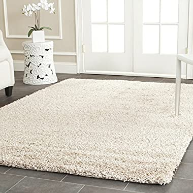 Safavieh California Shag Collection SG151-1313 Beige Area Rug, 8 feet by 10 feet (8' x 10')