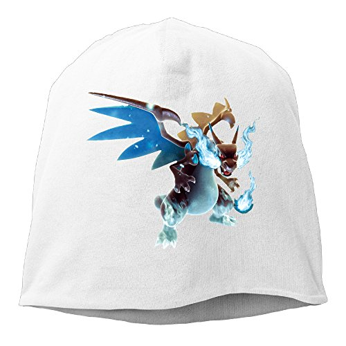[YUVIA Poke Mega Charizard Men's&Women's Patch Beanie MountaineeringWhite Cap Hat For Autumn And Winter] (Nike Atlanta Braves Light)