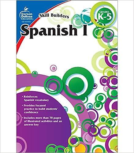 Carson Dellosa Skill Builders Spanish I Workbook—Grades K-5 Reproducible Spanish Workbook With Spanish Alphabet, Numbers, Vocabulary, Common Words (80 pgs)