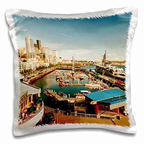 Danita Delimont - Seattle - USA, Washington, Seattle, Bell Street Pier - US48 RDU0473 - Richard Duval - 16x16 inch Pillow Case (pc_148496_1)