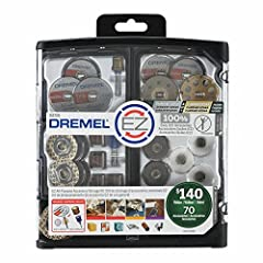 A 100 percent EZ Accessory Kit with 70 genuine Dremel accessories that are part of the EZ Lock or drum system. Offering reusable storage bins and lift-out trays for easy organization of the included bits, this kit is ready for cutting, polish...