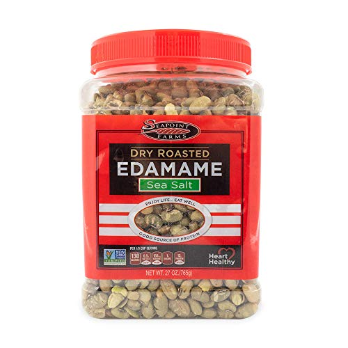 - Seapoint Farms Sea Salt Dry Roasted Edamame, Healthy Gluten-Free Snacks, 27 oz