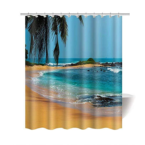 Tropical sea 100% Polyester Waterproof 66 x 72 Bath Curtain by Wandra