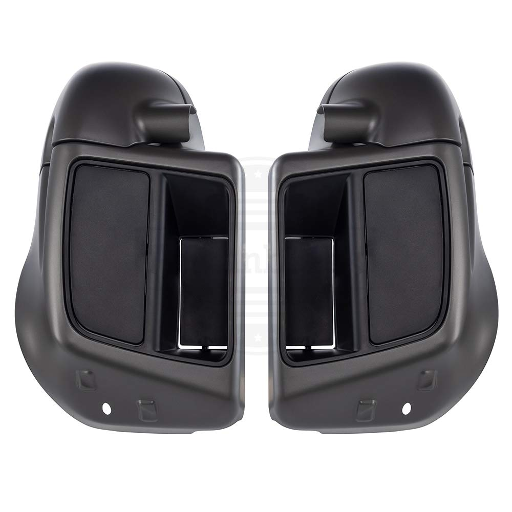 Advanblack Black Quartz Lower Vented Fairings Glove Box Fit for Harley Touring Street Glide Road King Road Glide Special Electra Glide Ultra Classic 2014 2015 2016 2017 2018