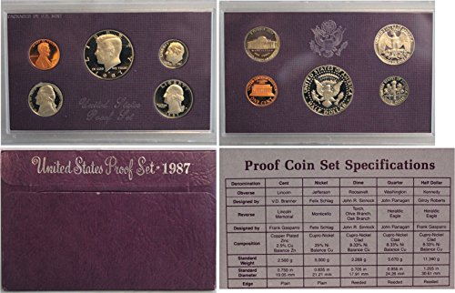1987 S Proof set Collection Uncirculated US Mint (Uncirculated Nice Coin)