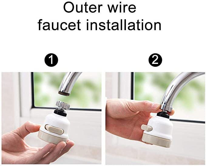 360 Degree Magic Faucet Movable Kitchen Tap Head Universal Water Sprayer Faucets