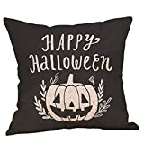 FNKDOR Halloween Pillow Cases Linen Sofa Pumpkin Ghosts Cushion Cover Home Decor (Multicolor,45cm*45cm)