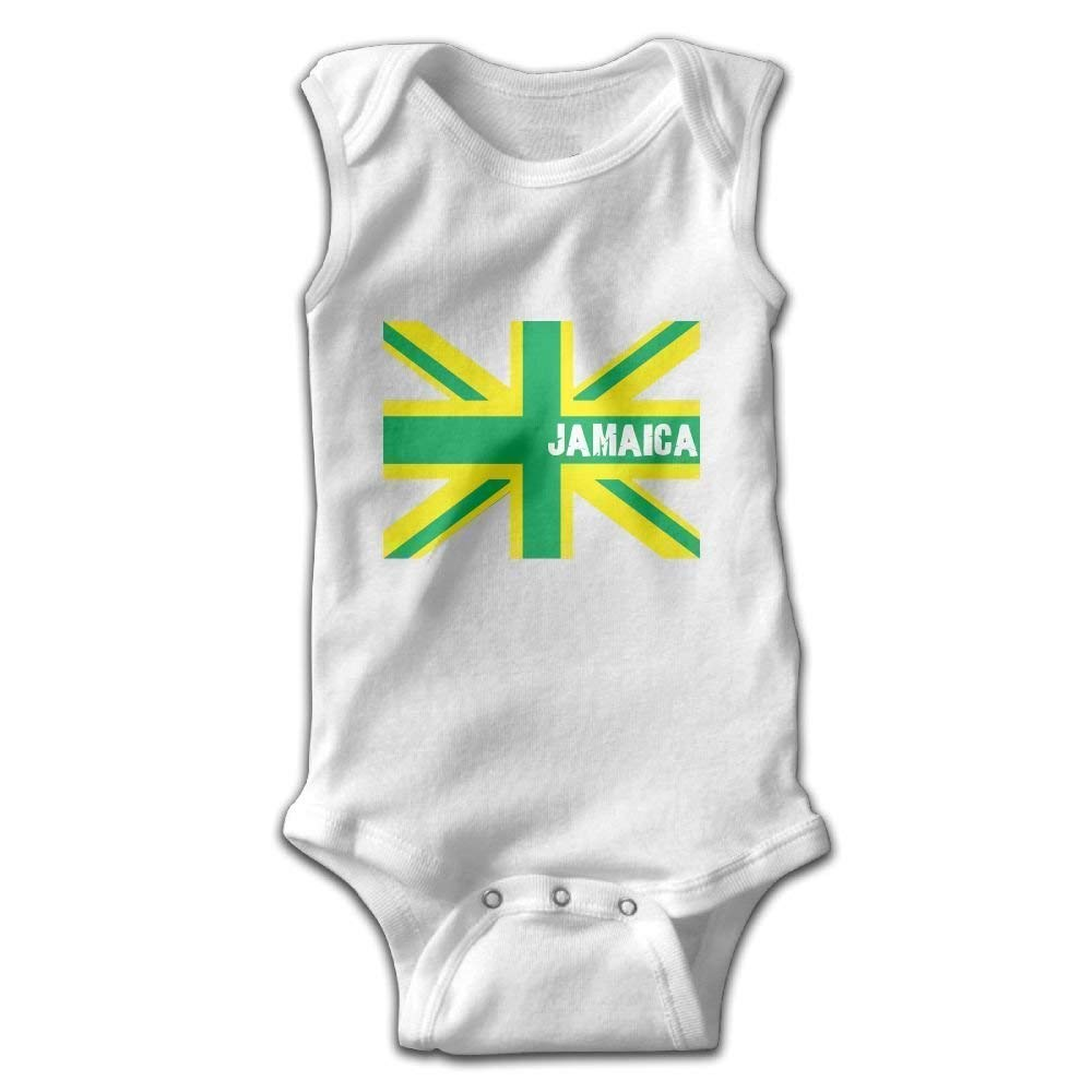 WENYIFANG Jamaican Kingdom Flag Infant Baby Sleeveless Bodysuit Romper