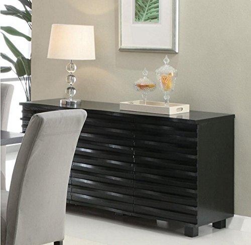Stanton 3-drawer Server Black - Set includes: One (1) server Materials: Wood veneer Finish color: Black - sideboards-buffets, kitchen-dining-room-furniture, kitchen-dining-room - 51FkymYALkL -