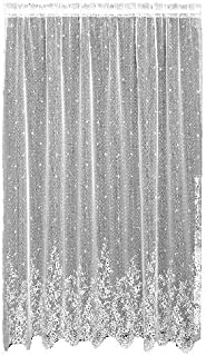 product image for Heritage Lace Floret 60-Inch Wide by 84-Inch Drop Panel, Ecru