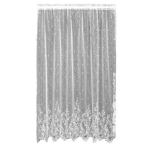 (Heritage Lace Floret 60-Inch Wide by 63-Inch Drop Panel, White)